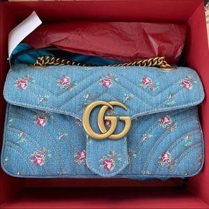 Gucci denim purse